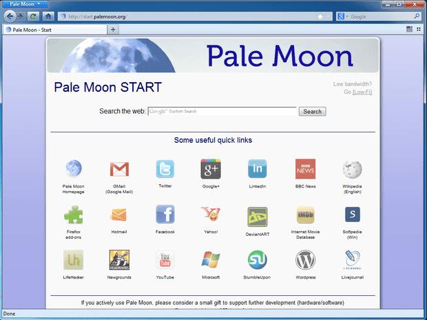 برنامج, التصفح, الآمن, والسريع, بال, مون, Pale ,Moon, احدث, اصدار