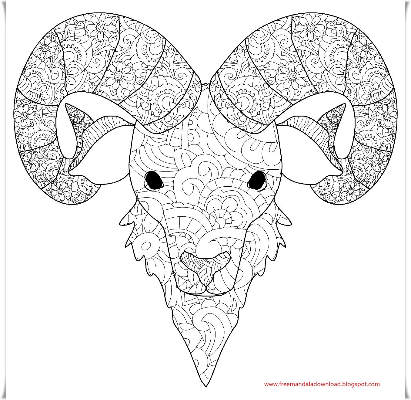 Schaf Mandala Download/Sheep mandala download - Free Mandala