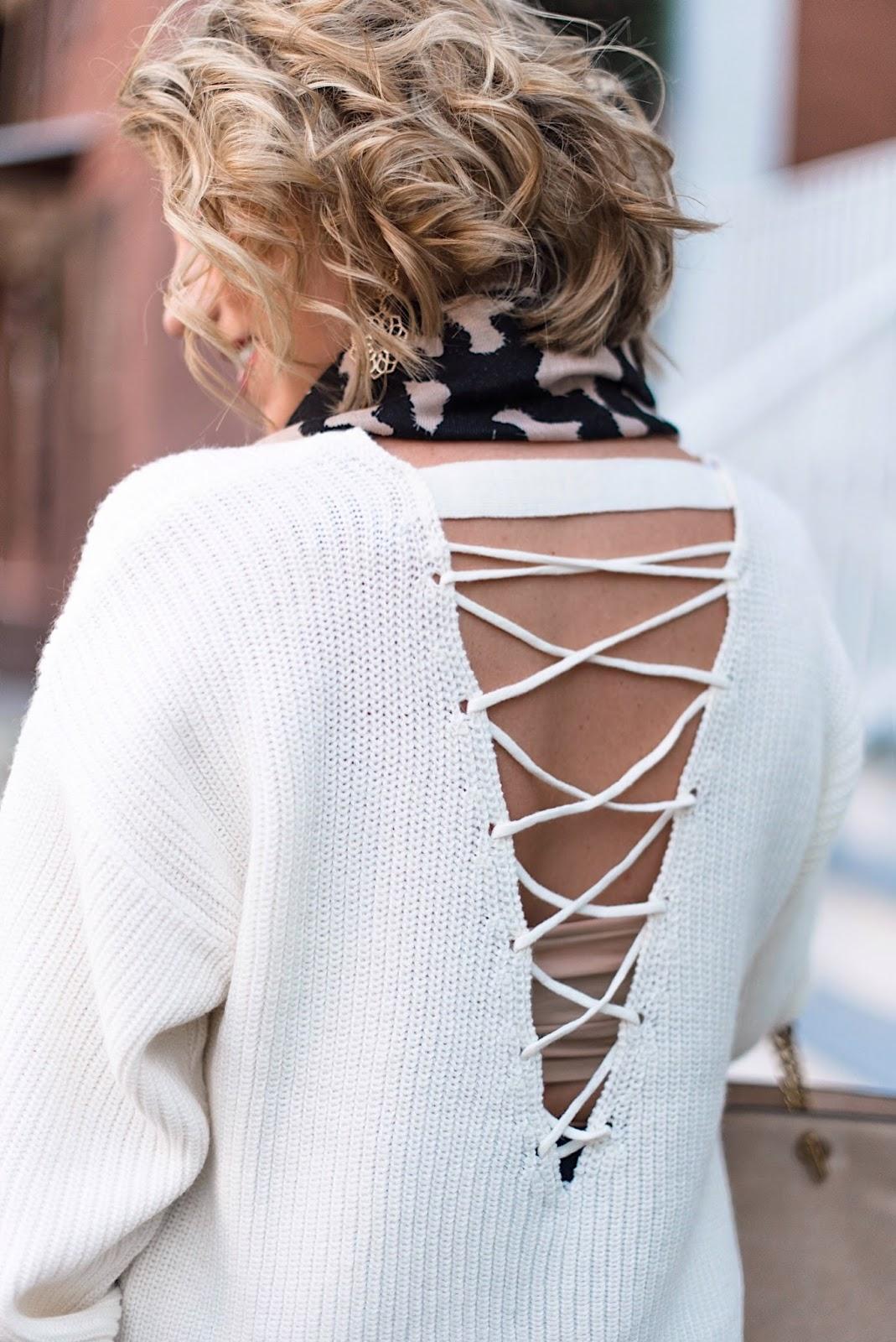 Lattice-Back Sweater - Something Delightful Blog