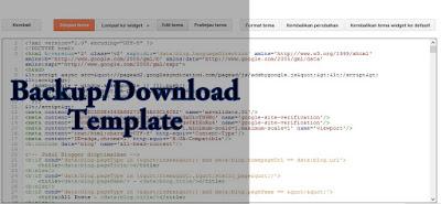 Cara Backup/Download Template Blogger