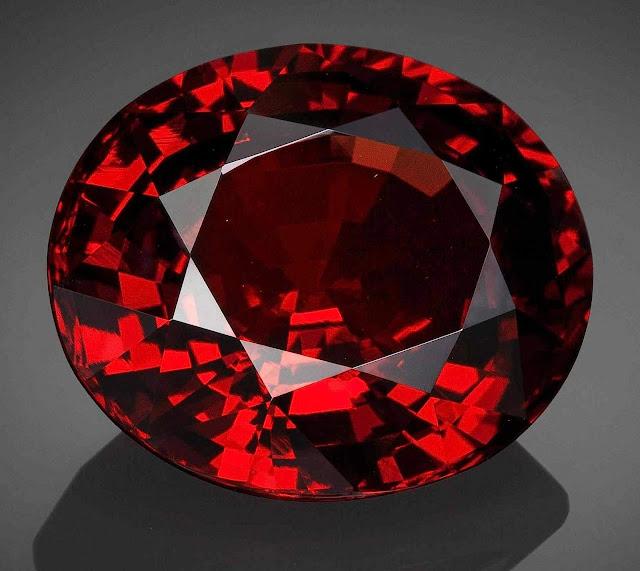 a red garnet