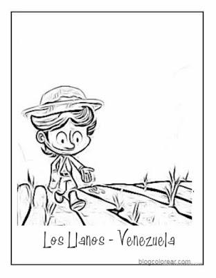 Los llanos de Venezuela para pintar