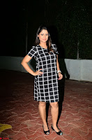 Shilpa Chakravarthy in Dark blue short tight dress At Srivalli Movie Pre Release Event ~  Exclusive Celebrities Galleries 060.JPG