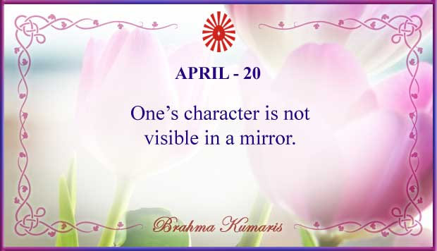 Thought For The Day April 20