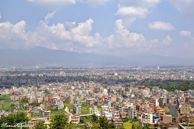 Kirtipur, vista su Kathmandu dal Tempio di Uma Maheshwar