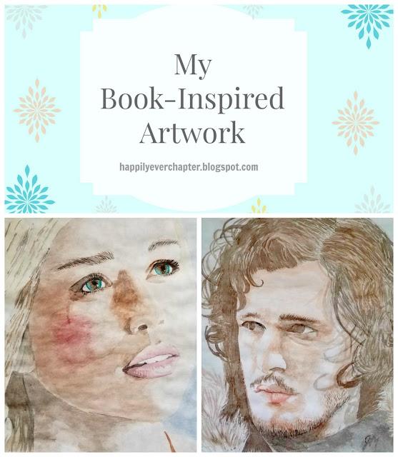 Book-inspired Artwork by Julie Maguda @ happilyeverchapter.blogspot.com - Daenerys Jon Snow Game of Thrones