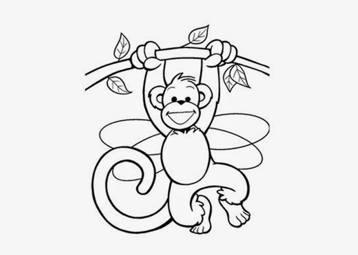Cute baby monkey coloring pages free coloring pages and for Coloring pages of baby monkeys
