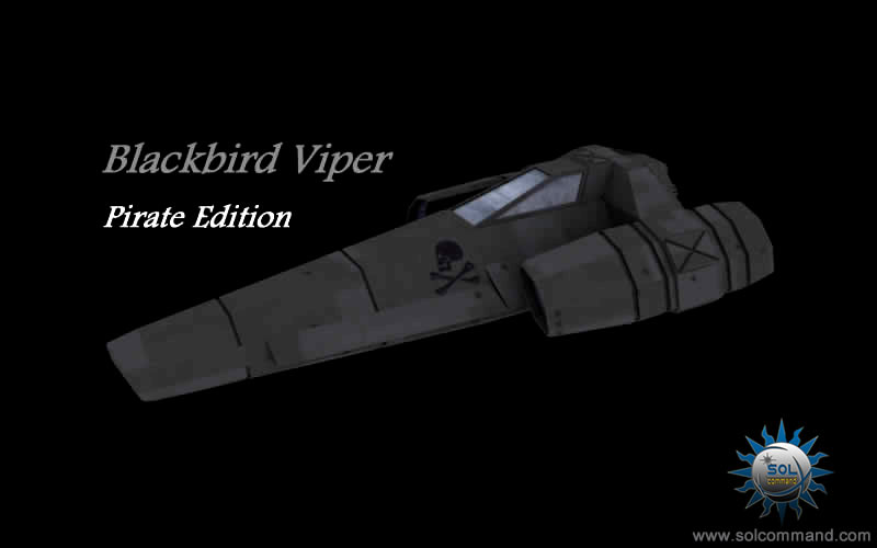 Blackbird viper colonial ship pirate version free 3d model download solcommand redesign low poly battlestar galactica combat fighter interceptor light