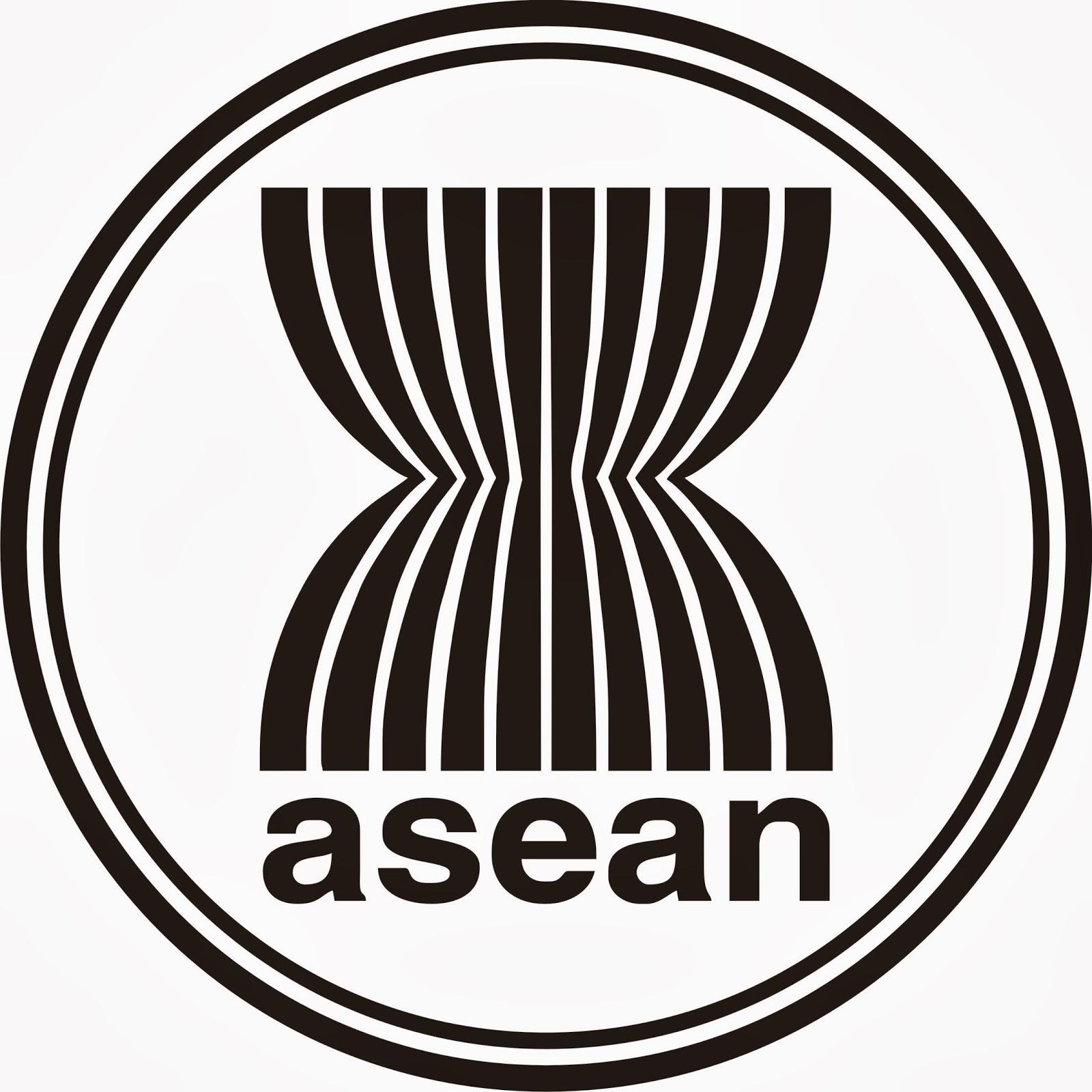 Arti Lambang Asean Penjelasannya Sejarah Negara Logo Hitam Putih Black