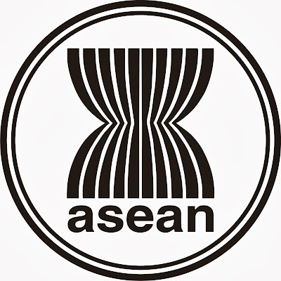 Gambar logo asean hitam putih (black and white)