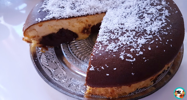 Tarta japones de queso y chocolate