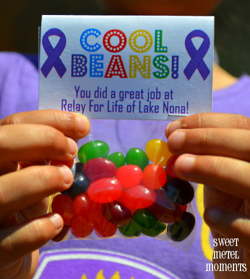 relay for life craft ideas sweet metel moments relay for quot cool beans quot treat 7100