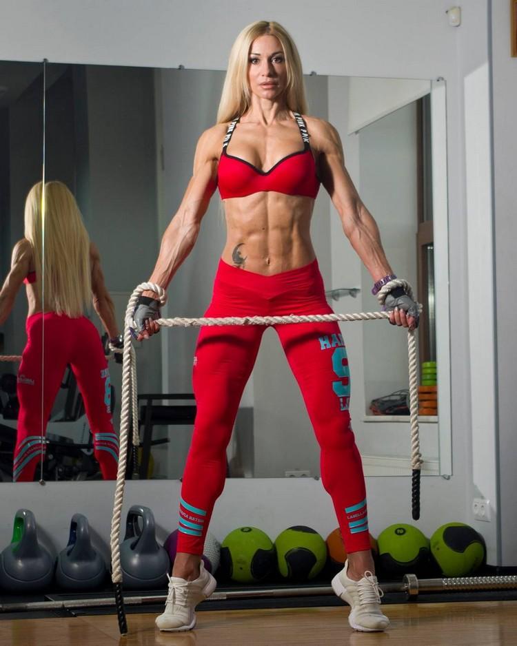 Multiple winner in various categories of fitness Olga Kulinych
