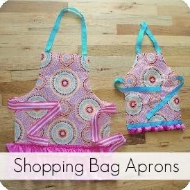 shopping bag aprons