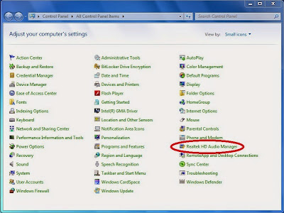 setting realtek hd manager di windows 7