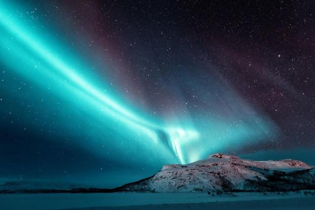 Aurora Borealis di Lapland, Finlandia