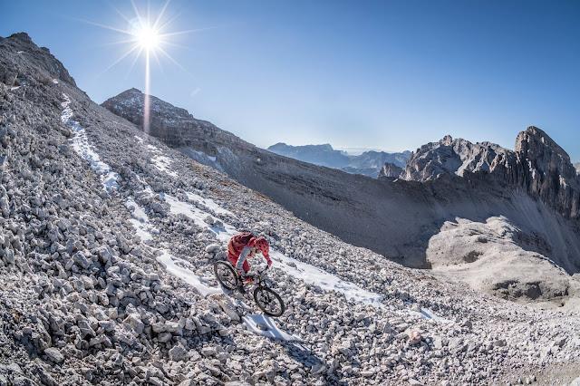 MTB Monte Ciaval 2912 m.ü.A. Mountainbike Tour Luns Bozen