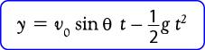 Rumus menghitung Ketinggian Benda pada gerak parabola
