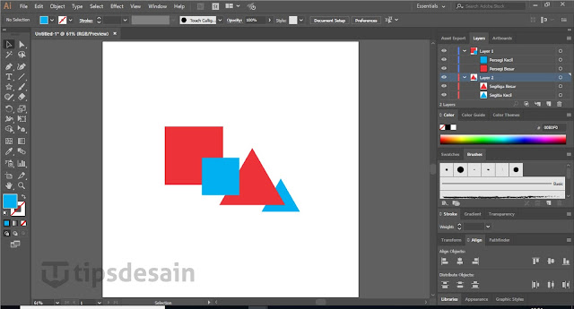 Tampilan Layer Adobe Illustrator