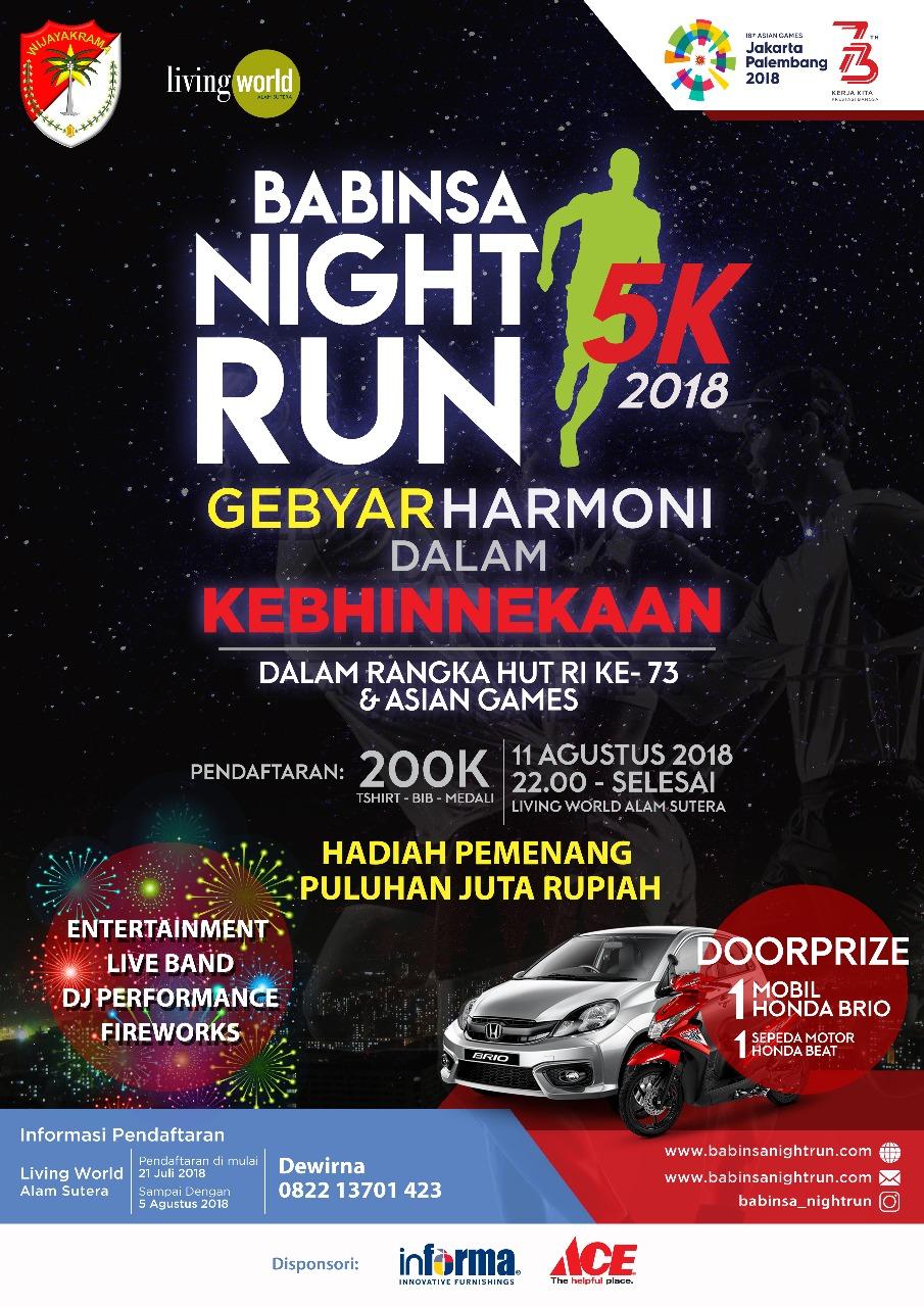 Babinsa Night Run • 2018