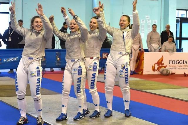 Foggia Fencing 2019. Campionati Europei Giovanili. E sono dieci le medaglie degli azzurrini
