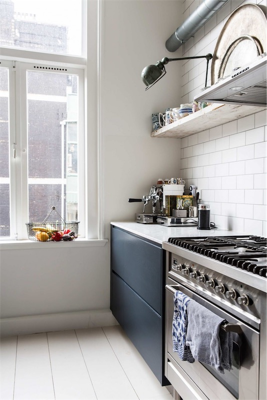baldosa blanca de metro para cocina chicanddeco