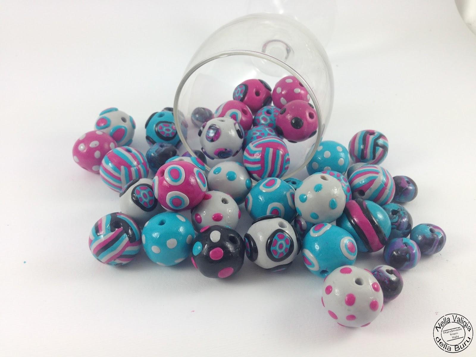 Amato Nella valigia della Buru: Perle artistiche in Fimo: il tutorial  FL91