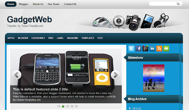 Gadget Web Blogger Template