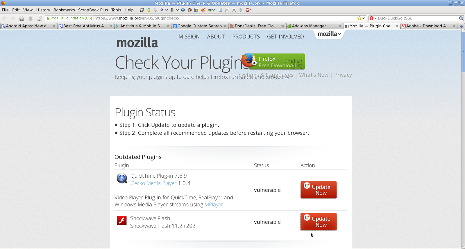 How to Install Adobe Flash Player Plugin Updates in Firefox