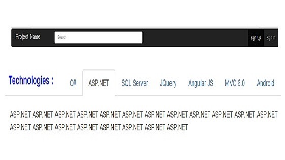 Bootstrap JQuery Tab in ASP.NET