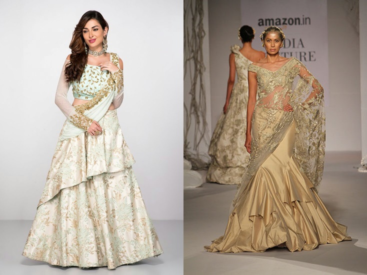 a0e097f3d Latest Indo Western Dresses for Engagement || Fusion Roka Outfit Ideas
