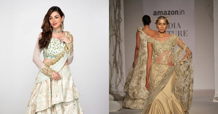 45e70ab6c27c8 Latest Indo Western Dresses for Engagement || Fusion Roka Outfit ...