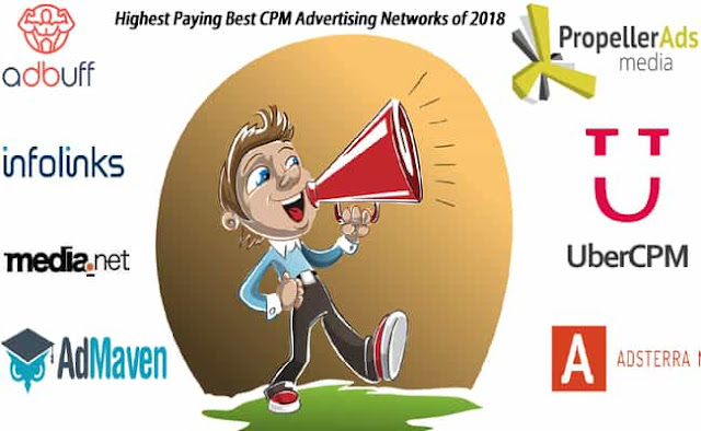A reviewed list of highest paying best cpm ad networks for publishers to make money with their blogs in 2018.