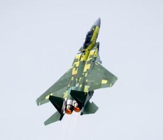 Jet Tempur F-15QA Pertama AU Qatar Terbang Perdana