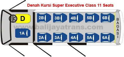 Executive Class 11 Seats | Balijayatrans.com