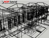 Selalu simpan & buka model sketchup dalam mode wireframe.