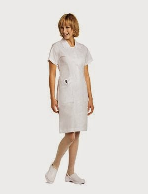 Landau Women's Student Scrub Dress Xxx-Large White