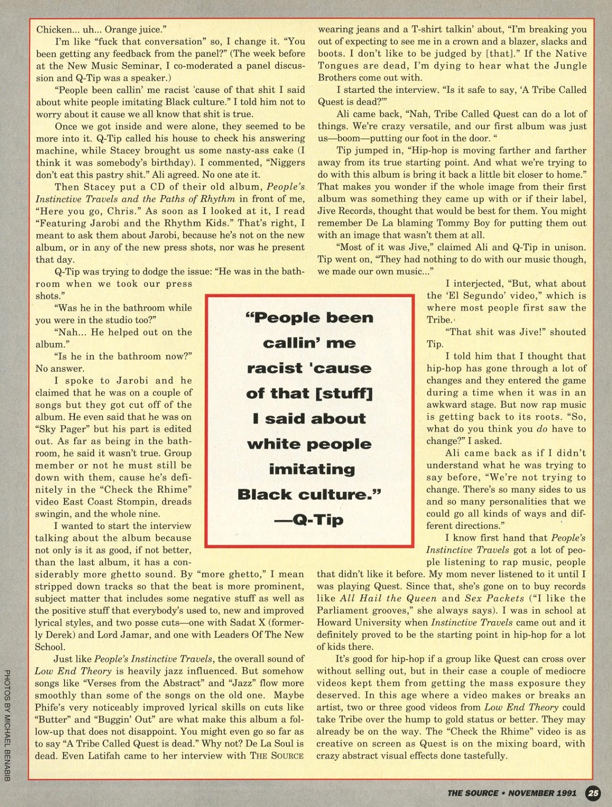 A Tribe Called Quest Interview (The Source, Nov. 19991) Page 2