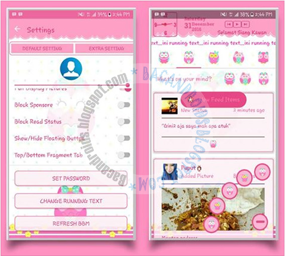 BBM Mod Owl Style Theme v3.2.0.6 Apk Terbaru For Android