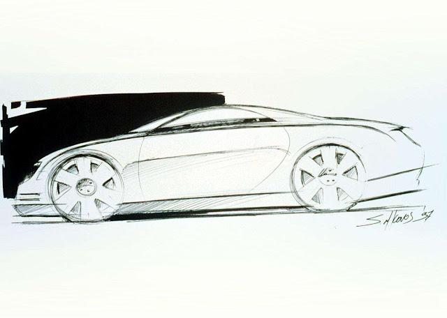 Lexus SC430, Toyota Soarer Z40, szkic, koncept