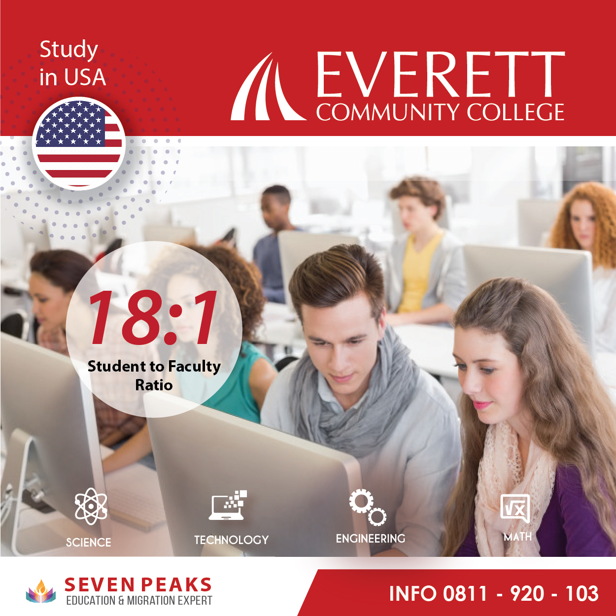Everett Community College, Ada Program Jurusan S.T.E.M