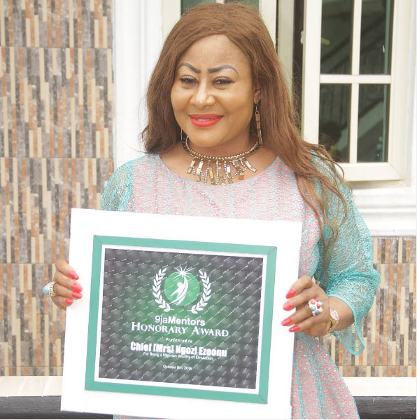 "Ngozi Ezeonu bags honorary award for being ""worthy of emulation"""