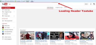 Cara membuat Loading Header Blog mirip Youtube