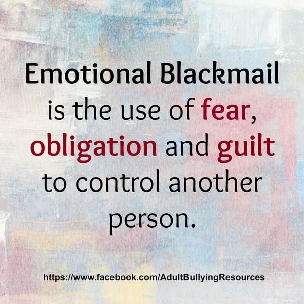 How To Respond To Emotional Blackmail