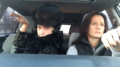 """Colin O'Leary, whose home video featuring him lip-syncing to hits from Broadway musicals went viral last year, has shared what he's calling """"Act Two"""" of his hilarious compilation of car rides with his perpetually unimpressed mom, Carol."""