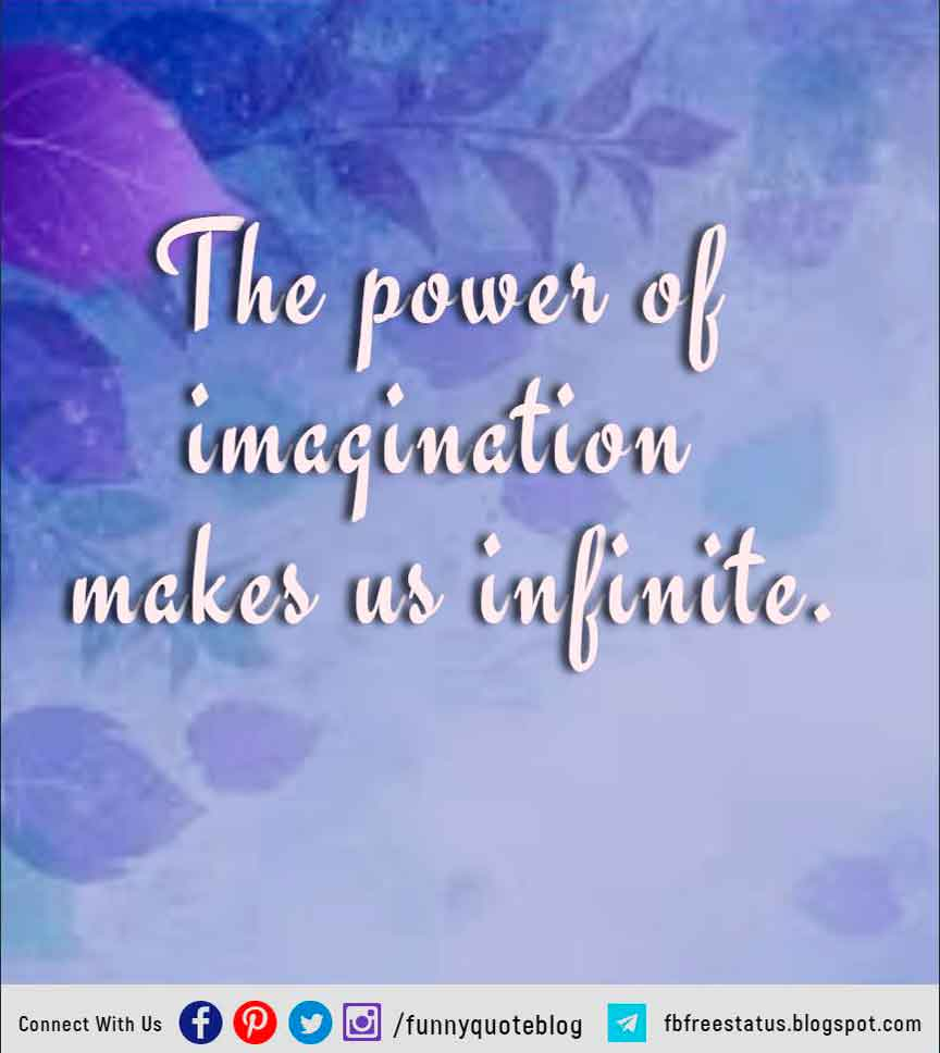 """The power of imagination makes us infinite.  - John Muir"