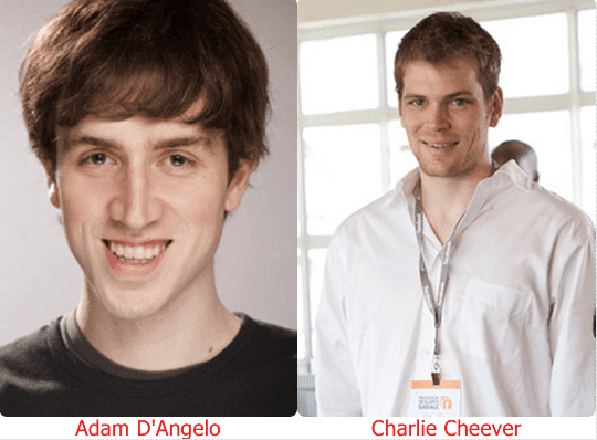 Adam-D'Angelo-And-Charlie-Cheever-Co-Founder-Of-Quora