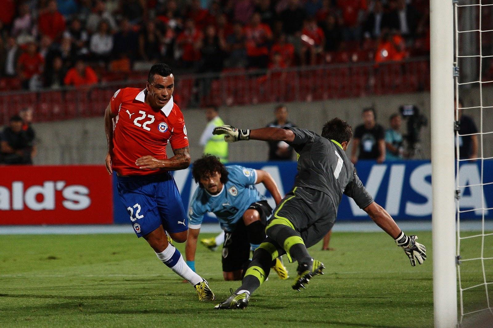 Chile y Uruguay en Clasificatorias a Brasil 2014, 26 de marzo de 2013