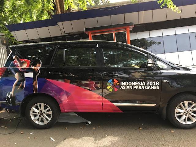 CAR BRANDING ASIAN PARAGAMES 2018