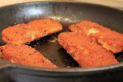 Several Breaded Fish Fillets